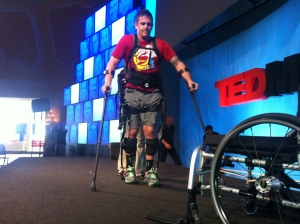 Exoskeleton Test Pilot and Ambassador Paul Thacker (AKA Thax) at TEDMED 2011. Ekso Bionics on Flikr. https://www.flickr.com/photos/eksobionics/6644753369/in/photostream/