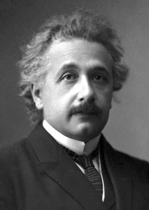 """Albert Einstein (Nobel)"" by Unknown - Official 1921 Nobel Prize in Physics photograph. Licensed under Public Domain via Commons."