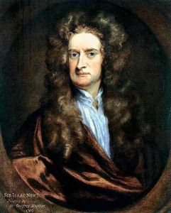 """Sir Isaac Newton 1702"" by Sir Godfrey Kneller - http://www.nd.edu/~dharley/HistIdeas/Newton.html (not actual)first uploaded in German Wikipedia by Dr. Manuel. Licensed under Public Domain via Wikimedia Commons."