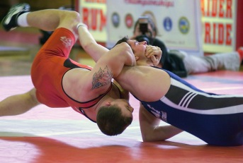 """FreestyleWrestling2"" by Staff Sergeant Jason M. Carter, USMC - Defenseimagery.mil, VIRIN 040307-M-RS496-226. Licensed under Public Domain via Commons - https://commons.wikimedia.org/wiki/File:FreestyleWrestling2.jpg#/media/File:FreestyleWrestling2.jpg"