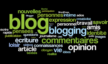 Blog et blogging : définition par tags. Luc Legay on Flikr. https://www.flickr.com/photos/luc/4299610669
