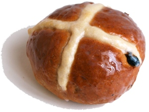 Hot cross bun. Liliana Fuchs on Flikr. https://www.flickr.com/photos/akane86/5208128379