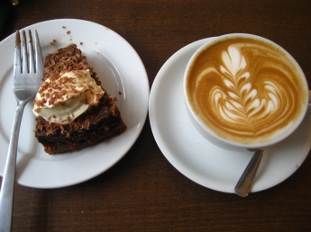 Cake and coffee. Jeremey keith on Flikr. https://www.flickr.com/photos/adactio/4925134798