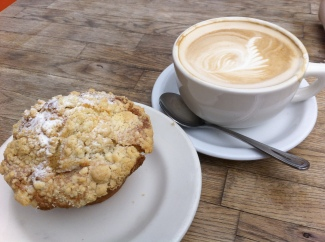 Muffin and coffee. Phil Gyford on Flikr. https://www.flickr.com/photos/philgyford/6534958441