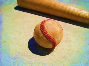 Baseball bat in sun. Peter Chen on Flikr https://www.flickr.com/photos/34858596@N02/3239696542
