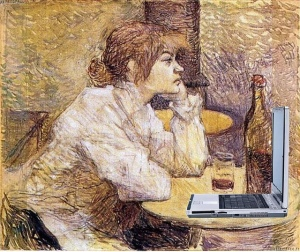 Suzanne Valadon Blogging, after Lautrec. Mike Licht on Flikr. https://www.flickr.com/photos/notionscapital/4784971557